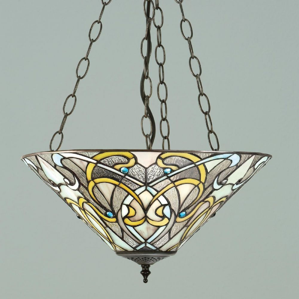 Dauphine Inverted Pendant (Art Nouveau, Inverted Pendant) T023IP (Tiffany style)